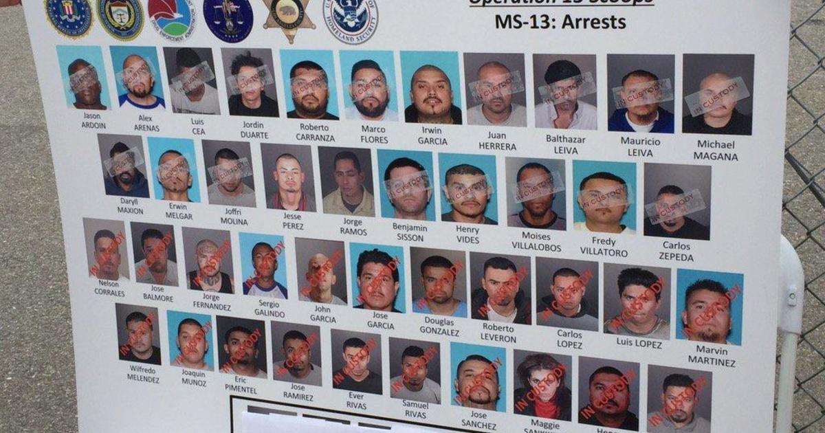 MS-13 gang targeted in pre-dawn sweep across Los Angeles - CBS News