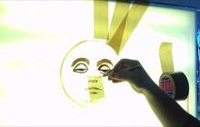 "Tape artist Max Zorn creates a ""Sunday Morning"" sun"