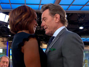 "Bryan Cranston gets ""intimate"" with Gayle King"