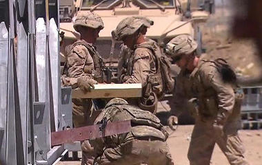U.S. troops threatened by deadly mines planted by ISIS
