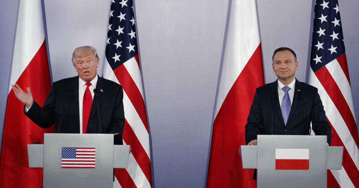a4ca7fe45dc Trump meeting with Duda live updates: Trump to hold news conference with  Polish president, watch live stream today - CBS News