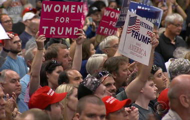 Trump supporters in Ohio mount behind the boss