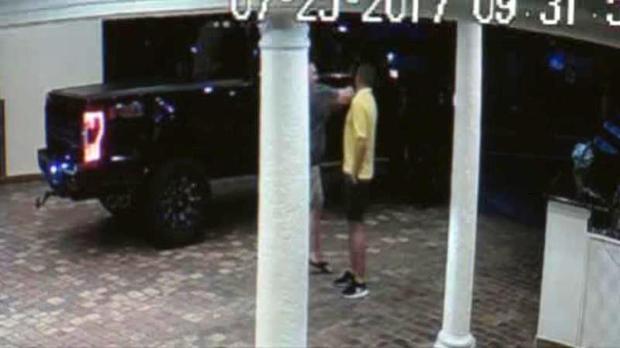 John Kiernan, a former police officer in Georgia, is seen punching valet Rodolfo Rodriguez at the Ocean Sky Hotel & Resort in Fort Lauderdale, Florida, on July 25, 2017.