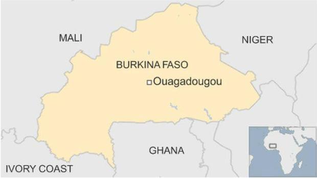 At Least Killed As Gunmen Attack Restaurant In Burkina Faso - Burkina faso map