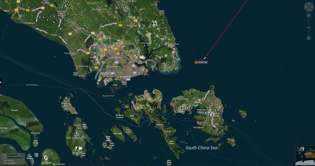 map USS John S. McCain collision