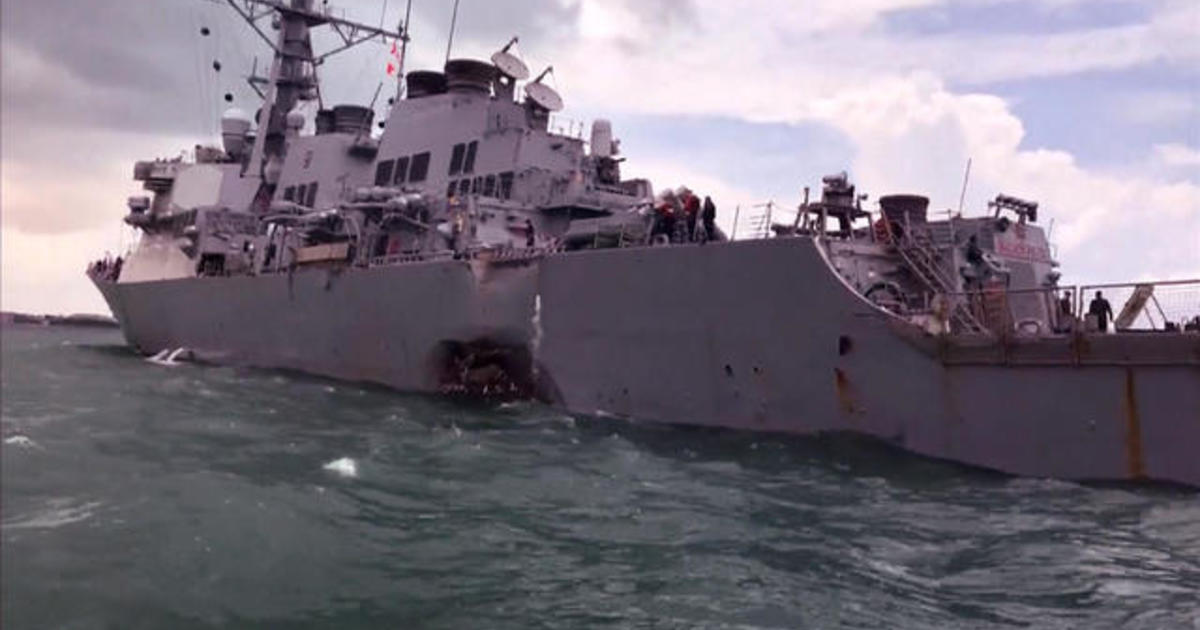 USS John S McCain Collision Pictures Show Damage To US Navy - Us navy ship map