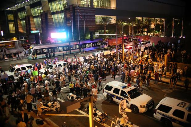 Pro-Trump supporters phoenix protest