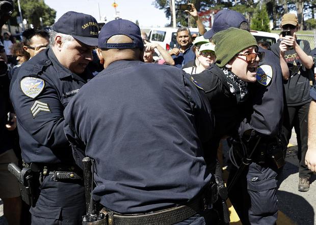 APTOPIX Free Speech Rallies