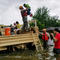 Handout photo of Texas National Guard soldiers aiding residents in heavily flooded areas from the storms of Hurricane Harvey in Houston