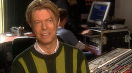 Bowie's first time in a recording studio