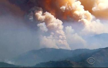 Dozens of wildfires burning from California to Montana