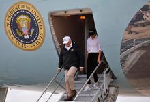 U.S. President Trump arrives in Corpus Christi, Texas