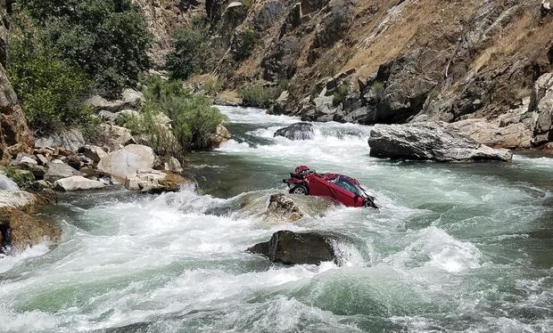 Car Off Cliff Bodies