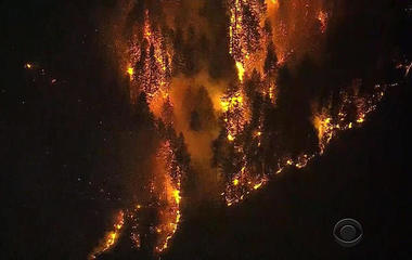 Wildfires rage in 8 Western states