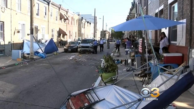 Vehicle hits eight during South Philadelphia block party