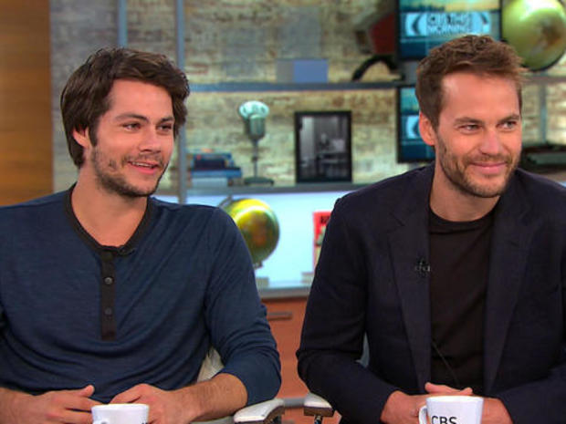 """Dylan O'Brien and Taylor Kitsch talk """"American Assassin"""""""