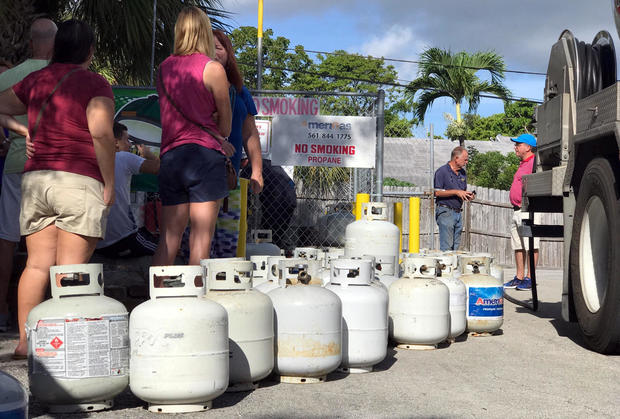 In preparation of Hurricane Irma, residents line up for propane in Boca Raton,