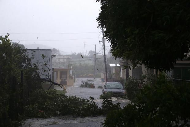 Hurricane Irma Barrels Into Puerto Rico