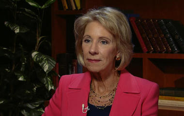DeVos to rescind Obama's Title IX sexual assault guidelines