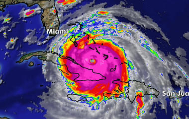 Hurricane Irma a Category 4 as it heads towards Florida