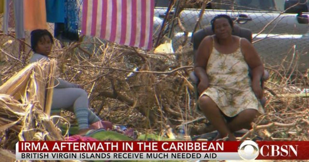 British Virgin Islands Works To Rebuild After Irma Videos CBS News - Mental health needed in us virgin islands on a map