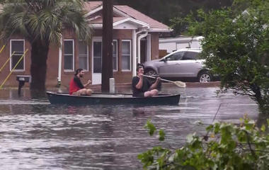 Charleston inundated with floodwater after Irma