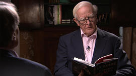 Famed spy novelist reads to 60 Minutes