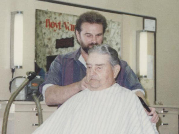 David Leath at the barber shop