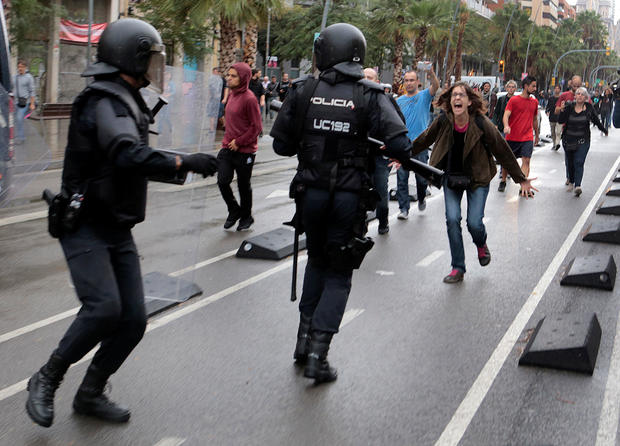 spain referendum protest