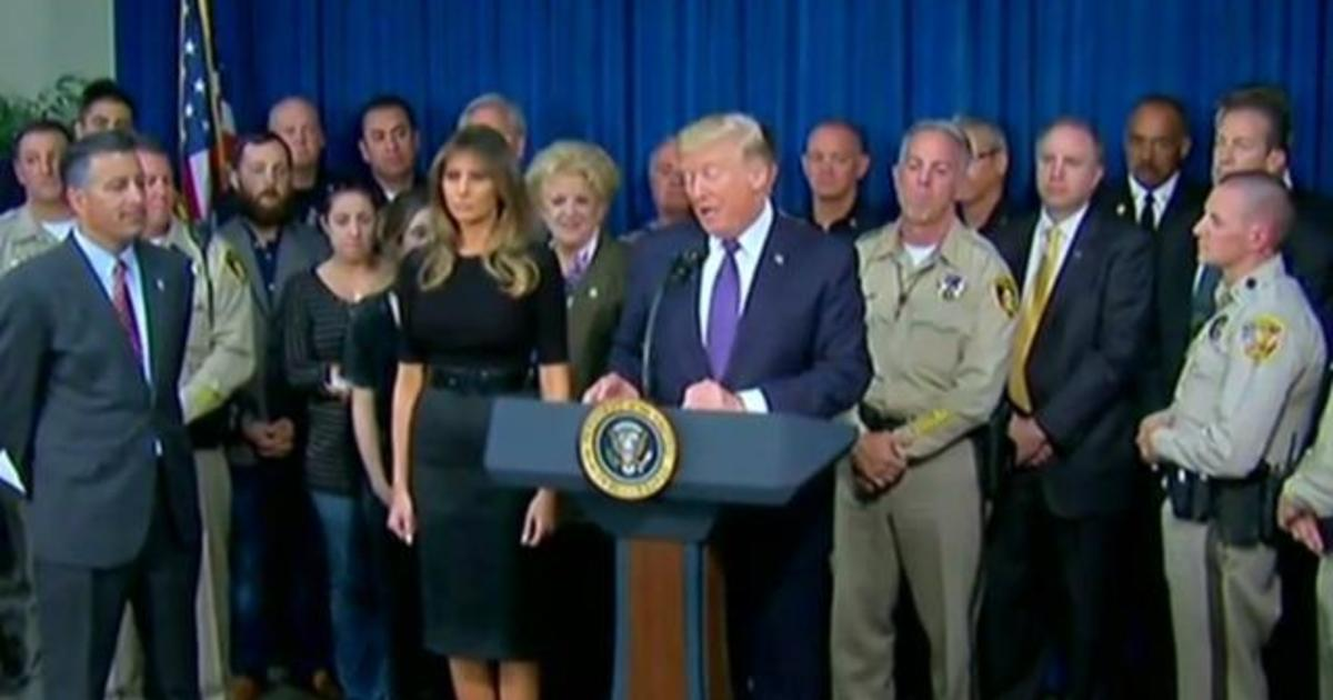 Trump: America is in mourning after Las Vegas massacre