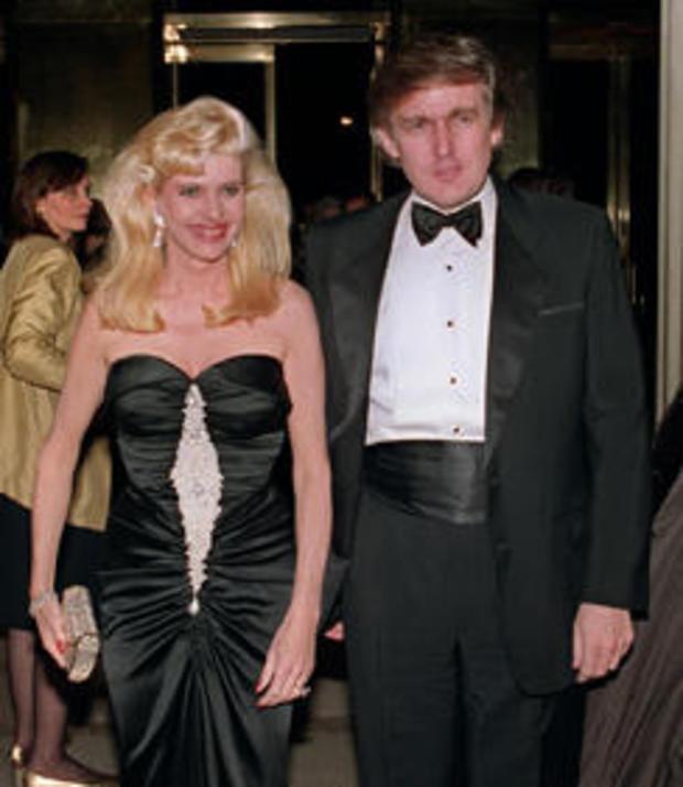 Billionaire Donald Trump and his wife Ivana arrive