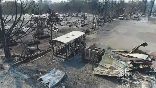 California fires cause $1B in damage, burn 7000 buildings