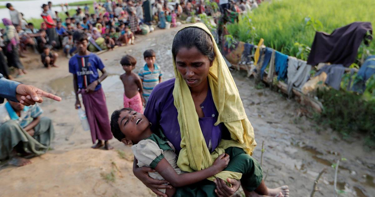 Rohingya crisis: Thousands of Muslim minorities flee Myanmar - CBS News