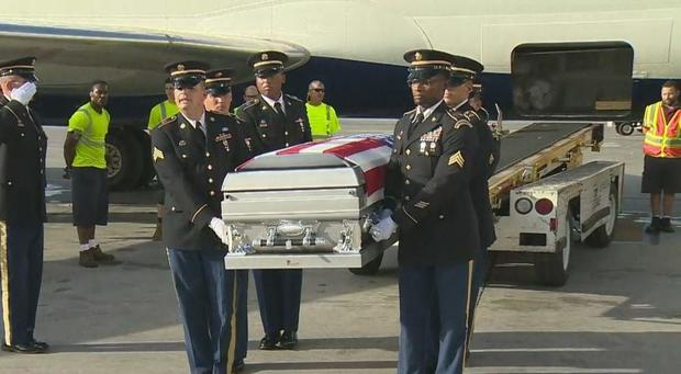 Image result for Remains of US Army Sgt. La David Johnson return to Miami