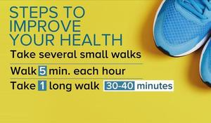 Walking just two hours a week could prolong your life