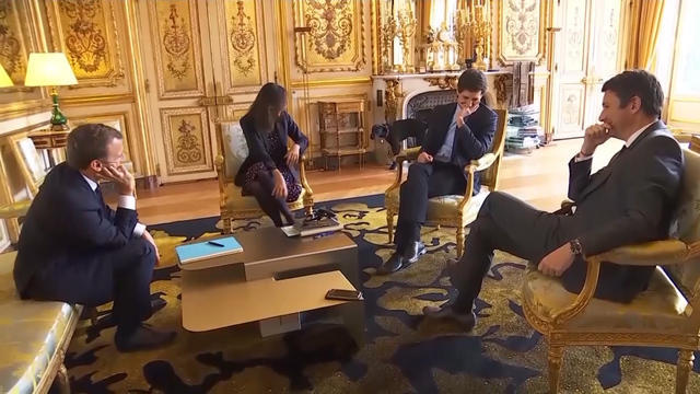 Macron S Dog Nemo Caught Relieving Himself On Elysee Palace Fireplace Cbs News