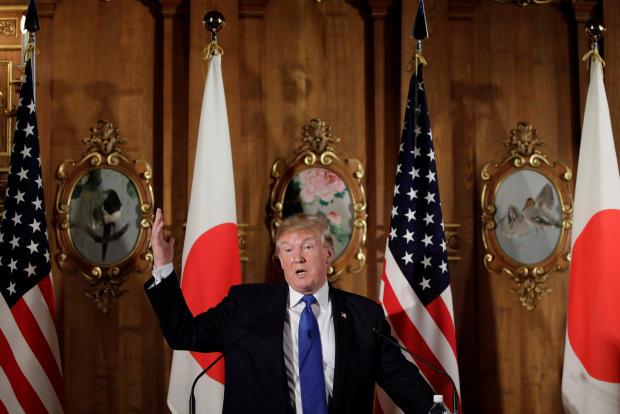 trump in japan