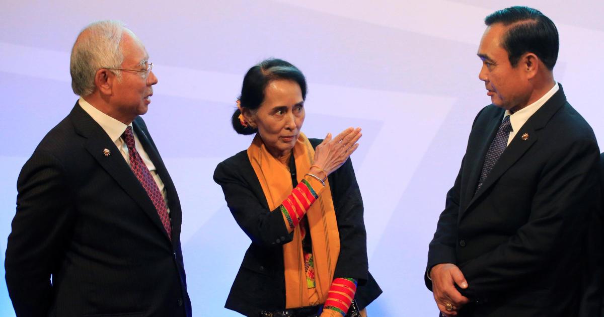 asean summit reprieve for aung san suu kyi on rohingya crisis in myanmar cbs news. Black Bedroom Furniture Sets. Home Design Ideas