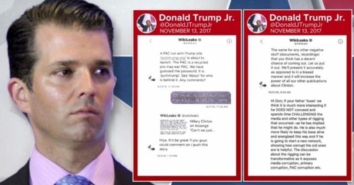 Donald Trump Jr  admits direct contact with WikiLeaks