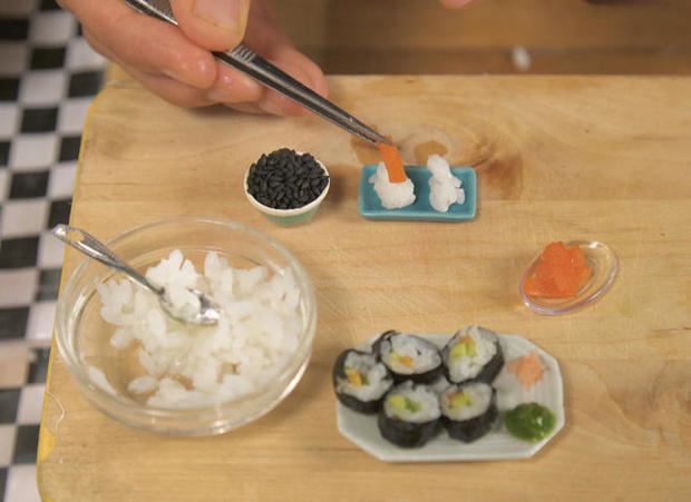 "Creating tiny food for ""Tiny Kitchen"""