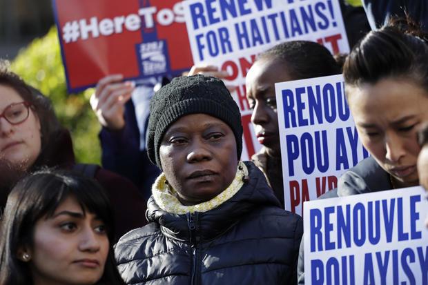 APTOPIX Immigration Temporary Status Haiti