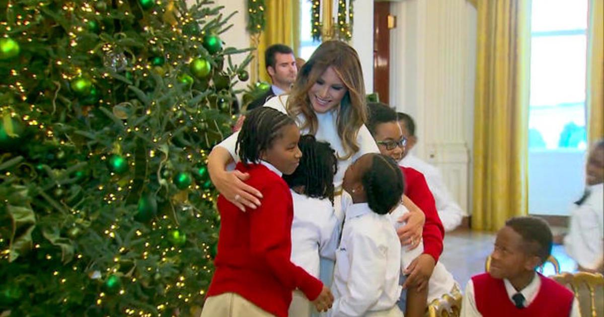 Melania Trump Prepares White House For Christmas Cbs News