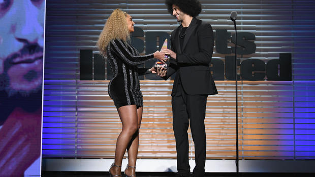 Image result for Beyonce Presents Colin Kaepernick with Muhammad Ali Legacy Award