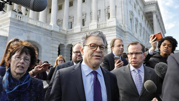Sen. Al Franken thanks supporters at Minneapolis appearance