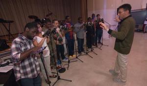 Autistic students' iPad band