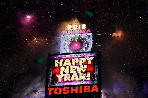 times square happy new year celebrations around the globe pictures cbs news