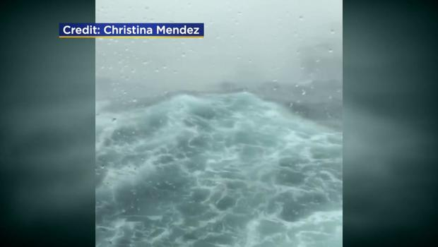 Cruise Ship Sails into winter storm