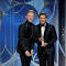 "Justin Paul and Benj Pasek accept the award for Best Original Song Motion Picture for ""This Is Me, The Greatest Showman"" at the 75th Golden Globe Awards in Beverly Hills"
