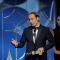 "Alexandre Desplat winner of Best Original Score Motion Picture for ""The Shape of Water"" at the 75th Golden Globe Awards in Beverly Hills"
