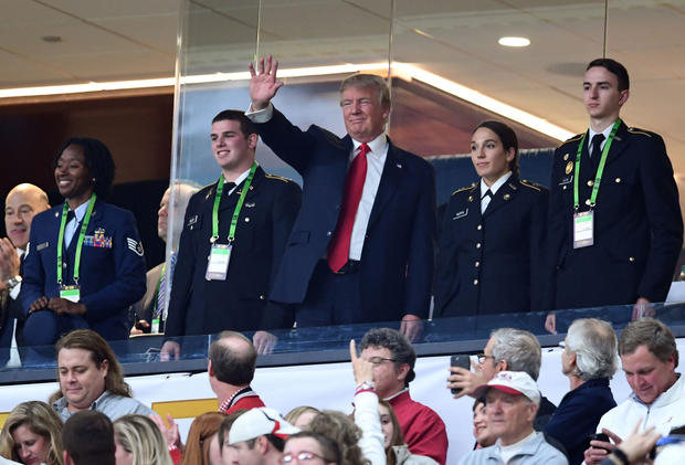 Donald trump at the 2018 ncaa football national for Mercedes benz stadium box office hours